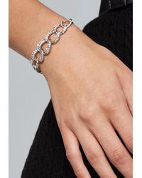 Bebe - Metallic Glam Silver Chain Bracelet - Lyst