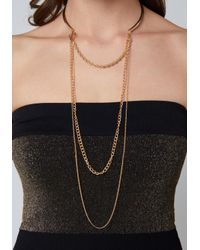Bebe - Metallic Swag Chain Collar Necklace - Lyst