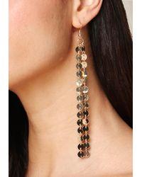 Bebe - Metallic Confetti Duster Earrings - Lyst