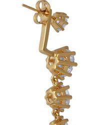 Noir Jewelry | Metallic Gold-tone Cubic Zirconia Earrings | Lyst