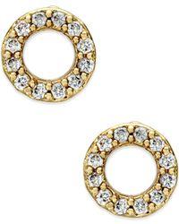 kate spade new york - Metallic Gold-tone Open Circle Stud Earrings - Lyst