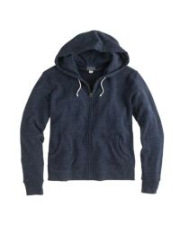 J.Crew - Blue Brushed Fleece Zip Hoodie for Men - Lyst