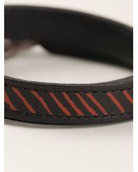 JvdF - Black Hand-Painted Repp Stripe Bracelet - Lyst