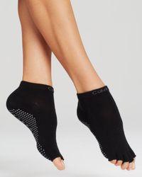 Calvin Klein - Black Yoga Split Toe Ankle Socks - Lyst