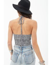 Forever 21 - Gray Heathered Sweater Halter Top - Lyst