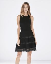Parker - Black Serene Knit Dress - Lyst