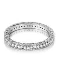 Penny Preville - Metallic Platinum Diamond Eternity Band Ring - Lyst