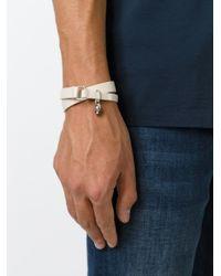 DIESEL | White Double Wrap Bracelet for Men | Lyst