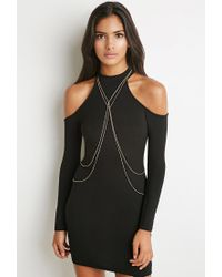 Forever 21 | Metallic Draped Body Chain | Lyst