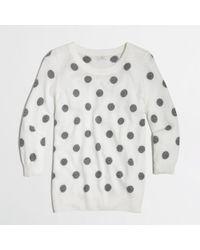 J.Crew - Gray Factory Intarsia Charley Sweater in Polka Dot - Lyst