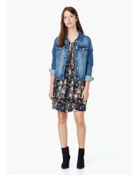 Mango - Blue Floral Print Dress - Lyst