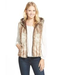 Love Token | Natural Reversible Faux-Fur Vest  | Lyst