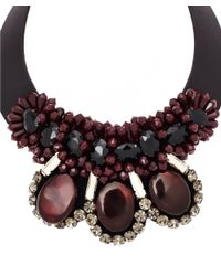 Marni - Dark Red Leather Necklace - Lyst