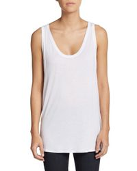 Helmut Lang - White Scala Double Layered Tank Top - Lyst