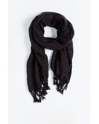 Urban Outfitters | Black Brushed Boucle Woven Scarf for Men | Lyst