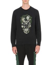 Alexander McQueen | Natural Floral Skull Sweatshirt for Men | Lyst