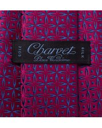 Charvet Blue Silk-jacquard Tie for men