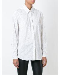 Neil Barrett - White Star Print Shirt - Lyst