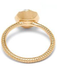 Larkspur & Hawk Gold Bella Blue Quartz Stacking Ring
