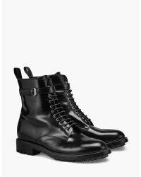 Belstaff - Black Finley Combat Boot - Lyst