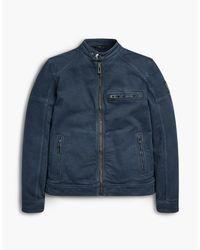 Belstaff Blue Beckford Aw16 Blouson Jacket for men