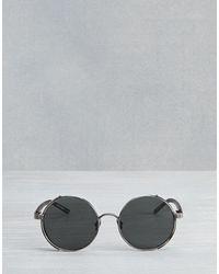 Belstaff Black Trophy Round Sunglasses