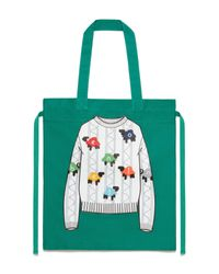 Shopper Con Zip di Benetton in Green