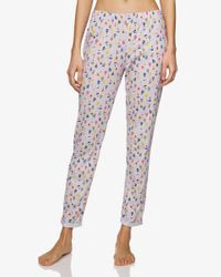 Pantalón Con Estampado Total Benetton de color Gray