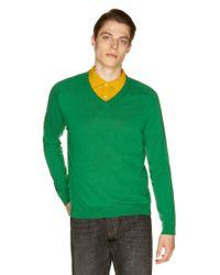 Jersey Con Escote De Pico Benetton de hombre de color Green