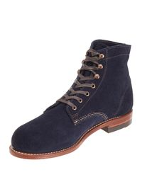 Wolverine Blue 1000 Mile Suede Boots Navy for men