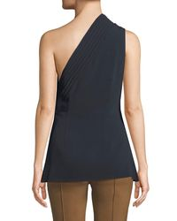 Brandon Maxwell - Black One-shoulder Crepe Top - Lyst