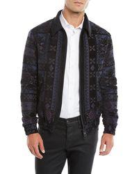 Etro Blue Men's Wool Bomber Jacket for men