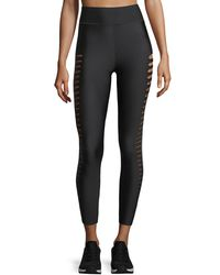 Ultracor Black Ultra High Silky Slash Performance Leggings