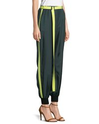 Robert Rodriguez - Green Belted Silk Track Pants - Lyst