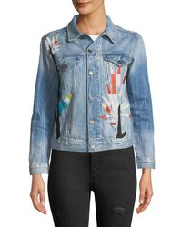 Etienne Marcel Blue Embroidered Denim Jacket
