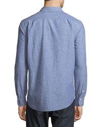 Rag & Bone Blue Men's Fit 3 Beach Chambray Shirt for men