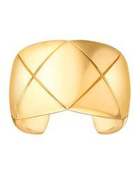 Chanel - Metallic Coco Crush Cuff Bracelet In 18k Yellow Gold - Lyst