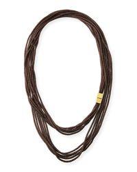 Lafayette 148 New York - Metallic Tea Long Mesh Necklace 18 - Lyst