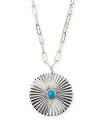 Jennifer Zeuner - Metallic Iris Silver Turquoise Pendant Necklace - Lyst