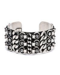 DANNIJO - Metallic Quinn Statement Cuff Bracelet - Lyst