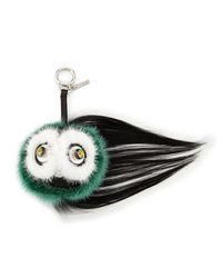Fendi - Green Monster Fur Keychain W/beak - Lyst