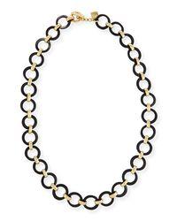Ashley Pittman - Brown Mtego Round Dark Horn Link Necklace - Lyst
