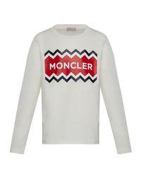 Moncler White Little Boy's & Boy's Jersey T-shirt for men