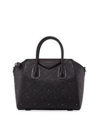 Givenchy - Black Antigona Small Studded Leather Satchel Bag - Lyst