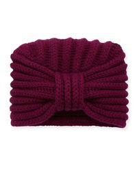 Rosie Sugden - Purple Knit Cashmere Turban Hat - Lyst