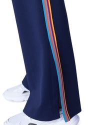 Akris Punto Blue Marla Tuxedo-striped Jersey Pants