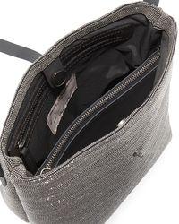 Brunello Cucinelli - Gray Monili Mini Leather Bucket Bag - Lyst