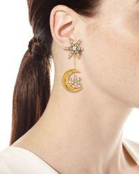 Jennifer Behr - Metallic Atlas Star & Moon Drop Earrings - Lyst