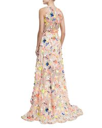 Jason Wu - Natural Flocked High-low Silk Gown - Lyst