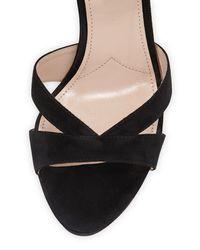 Miu Miu - Black Suede Chunky-heel Platform Sandal - Lyst